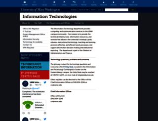 technology.umw.edu screenshot