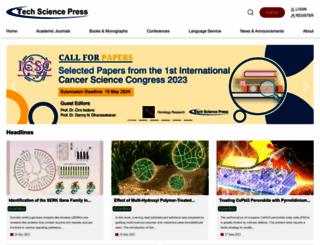 techscience.com screenshot