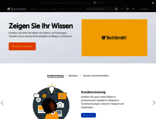 techsmith.de screenshot