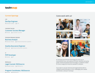 techsoup.theresumator.com screenshot