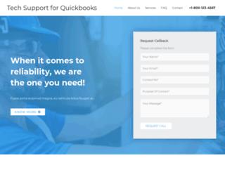 techsupportquickbooks.com screenshot