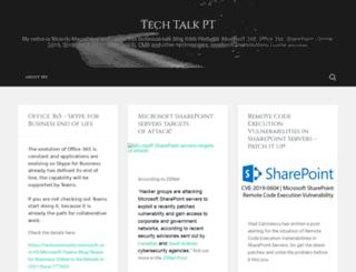 techtalkpt.wordpress.com screenshot