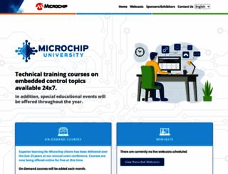 techtrain.microchip.com screenshot