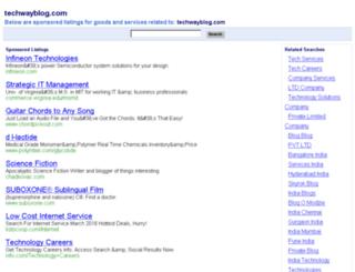 techwayblog.com screenshot