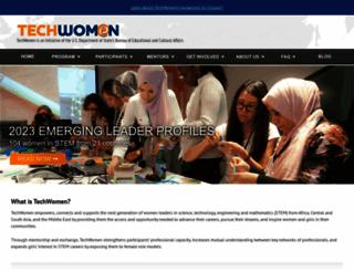 techwomen.org screenshot