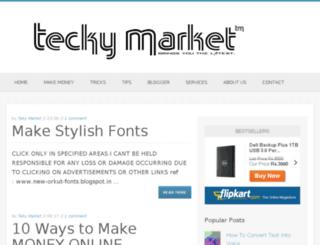 teckymarket.blogspot.com screenshot