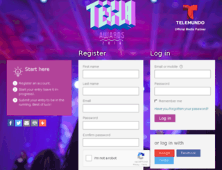 tecla.awardsplatform.com screenshot