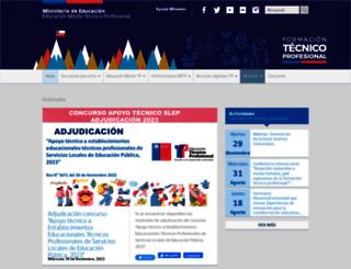 tecnicoprofesional.mineduc.cl screenshot