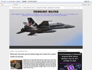 tecnologamilitar.blogspot.com.es screenshot