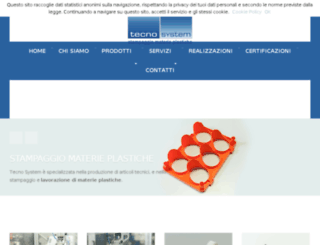 tecnosystemstampaggioplastica.com screenshot