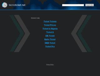 tecnoticket.net screenshot