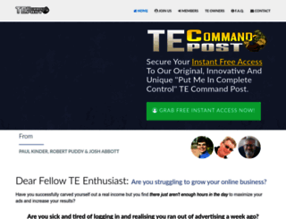 tecommandpost.com screenshot