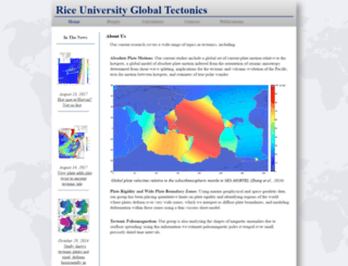 tectonics.rice.edu screenshot