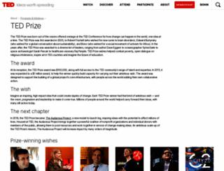 tedprize.org screenshot