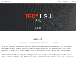 tedx.usu.edu screenshot