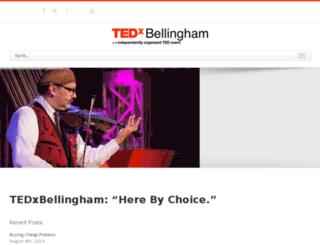 tedxbellingham.com screenshot