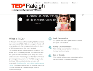 tedxraleigh.org screenshot