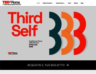 tedxroma.com screenshot