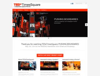 tedxtimessquare.com screenshot