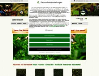 teeblaetter-shop.de screenshot