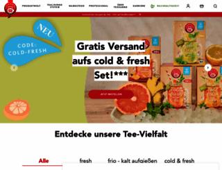 teekanne.de screenshot