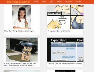 teenagedreamer.co screenshot