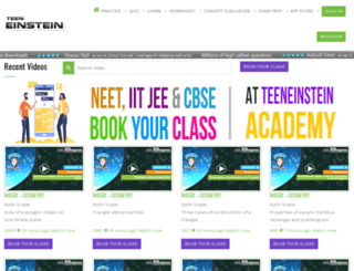 teeneinstein.com screenshot
