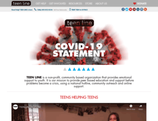 teenlineonline.org screenshot