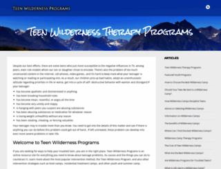 teenwildernessprograms.org screenshot