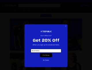 teepublic.com screenshot
