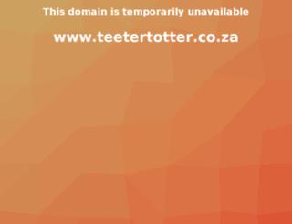 teetertotter.co.za screenshot