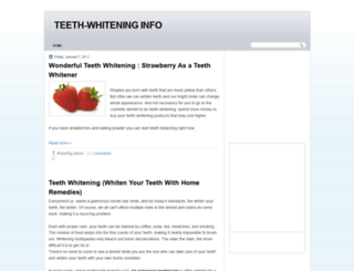 teeth-whiteninginfo.blogspot.com screenshot