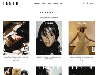 teethmagazine.bigcartel.com screenshot