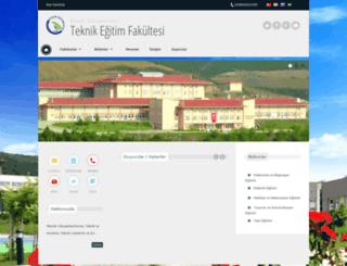 tef.duzce.edu.tr screenshot
