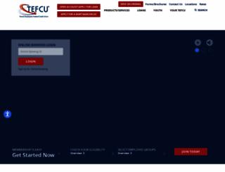 tefcu.org screenshot