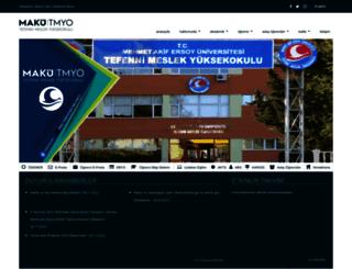 tefennimyo.mehmetakif.edu.tr screenshot