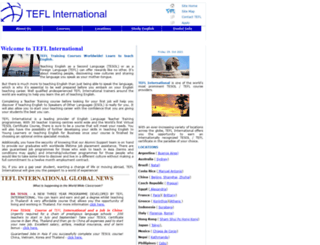 teflinternational.org.uk screenshot