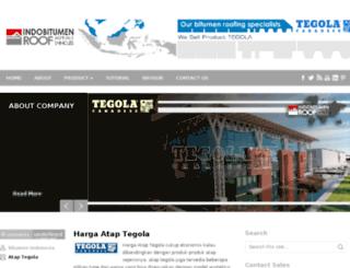 tegola.indobitumen.com screenshot