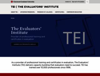 tei.gwu.edu screenshot