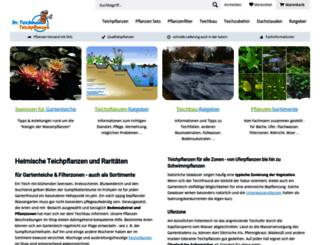 teichpflanzen-teichbau.com screenshot