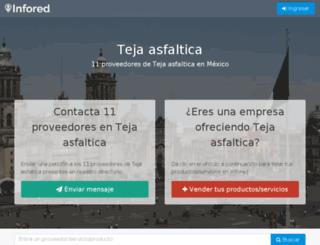 teja-asfaltica.infored.com.mx screenshot