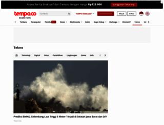 tekno.tempo.co screenshot