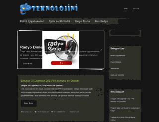 teknolojini.com screenshot