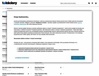 teksciory.interia.pl screenshot
