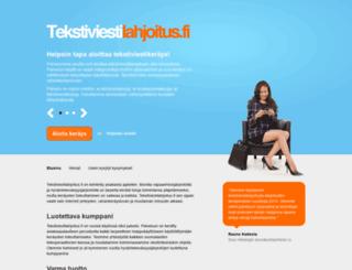 tekstiviestilahjoitus.fi screenshot