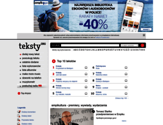 teksty.org screenshot