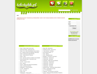 tekstyhh.pl screenshot