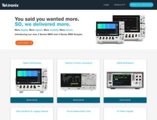 tektronixindia.com screenshot