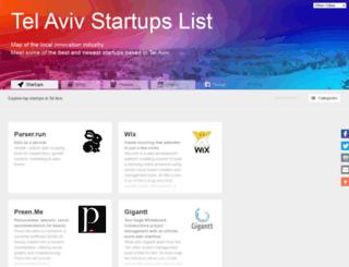 tel-aviv.startups-list.com screenshot