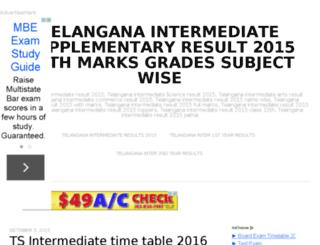 telanganaintermediateresults2015.in screenshot